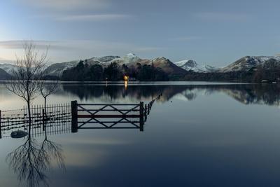 Crow Park on Derwent Water near Keswick, Lake District, Cumbria, England.